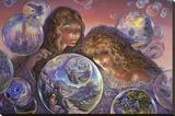 Bubble World Płótno naciągnięte na blejtram - reprodukcja autor Josephine Wall