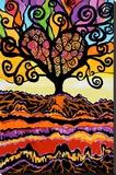 Tree of Love Lærredstryk på blindramme