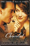Chocolat - Johnny Depp Juliette Binoche Movie Poster Stretched Canvas Print