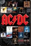 AC/DC- Album Covers Reprodukce na plátně