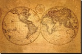 Old World Map Stretched Canvas Print