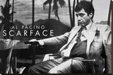 Scarface Al Pacino Sling Opspændt lærredstryk