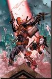 Dc Comics- Deathstroke & Harley Quinn Lærredstryk på blindramme