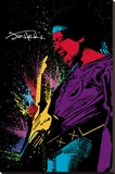 Jimi Hendrix- Paint Stretched Canvas Print