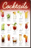 Cocktails - German Stretched Canvas Print