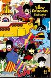 The Beatles - Yellow Submarine Lærredstryk på blindramme