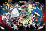Pokemon Mega Lærredstryk på blindramme
