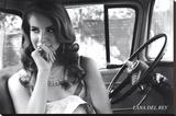 Lana Del Rey Music Poster Lærredstryk på blindramme