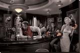 Kaffee Träume - Chris Consani Bedruckte aufgespannte Leinwand von Chris Consani