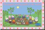 Peppa Pig -Muddy Puddle Reproducción en lienzo de la lámina