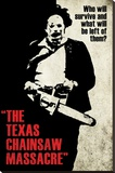 Texas Chainsaw Massacre- Leatherface Silhouette Stretched Canvas Print