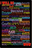 I Will Be (Motivational List) Art Poster Print Stretched Canvas Print