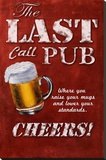 Last Call Pub Stretched Canvas Print by Robert Downs