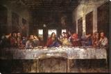The Last Supper, c. 1498 Reproducción en lienzo de la lámina por  Leonardo da Vinci