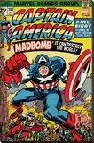 Marvel Retro - Captain America - Madbomb Lærredstryk på blindramme