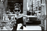 Audrey Hepburn Bedruckte aufgespannte Leinwand