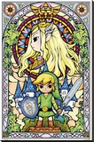The Legend of Zelda- Stained Glass Stretched Canvas Print