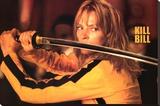 Kill Bill Movie (Uma Thurman w/ Sword) Poster Print Stretched Canvas Print