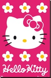 Hello Kitty - Pink Stretched Canvas Print