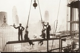 New York City (Men on Girder, Lunch Above Manhattan) Art Poster Print Stretched Canvas Print
