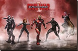 Captain America Civil War- Team Iron Man Reproduction sur toile tendue