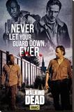 The Walking Dead- Rick & Morgan Lærredstryk på blindramme