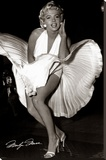 Marilyn Monroe - Seven Year Itch Stretched Canvas Print