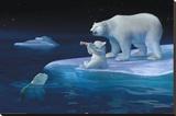 Coca-Cola - polar bear swim Płótno naciągnięte na blejtram - reprodukcja