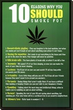 10 Reasons to Smoke Pot Marijuana Stretched Canvas Print