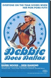 Debbie Does Dallas Retro Adult Movie Poster Stretched Canvas Print