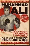 Muhammad Ali, vintage Reproducción en lienzo de la lámina