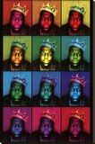 Notorious B.I.G. - Pop Art King Stretched Canvas Print