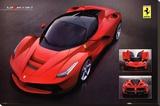 Ferrari Laferrari Car Poster Stretched Canvas Print