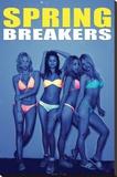 Spring Breakers Movie Poster - Şasili Gerilmiş Tuvale Reprodüksiyon