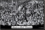 Rock & Roll Theatre Stretched Canvas Print by Howard Teman