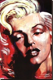 Hot! - Marilyn Monroe Stretched Canvas Print by Stephen Fishwick