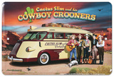 Route 66 Cowboy Crooner Plaque en métal