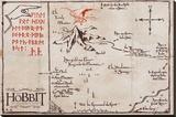 The Hobbit - Mountain Map Canvastaulu
