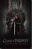 Game of Thrones, Gagner ou mourir, Le Trône de Fer  Reproduction sur toile tendue
