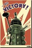 Doctor Who - To Victory Lærredstryk på blindramme