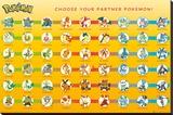Pokemon Partner Pokemon Lærredstryk på blindramme