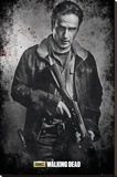 The Walking Dead- Rick Black And White Lærredstryk på blindramme