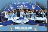 Manchester City League Cup Winners 2016 - Şasili Gerilmiş Tuvale Reprodüksiyon