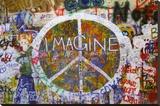 Vrede muur Kunstdruk op gespannen doek