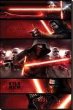 Star Wars- Kylo Ren Panels - Şasili Gerilmiş Tuvale Reprodüksiyon