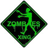 Zombie Xing Plakietka emaliowana