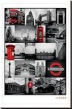 London Lærredstryk på blindramme