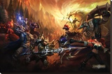 League Of Legends - Şasili Gerilmiş Tuvale Reprodüksiyon