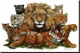 Great Cats Stretched Canvas Print by Peter Kull