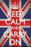 Keep Calm And Carry On Reprodukce na plátně